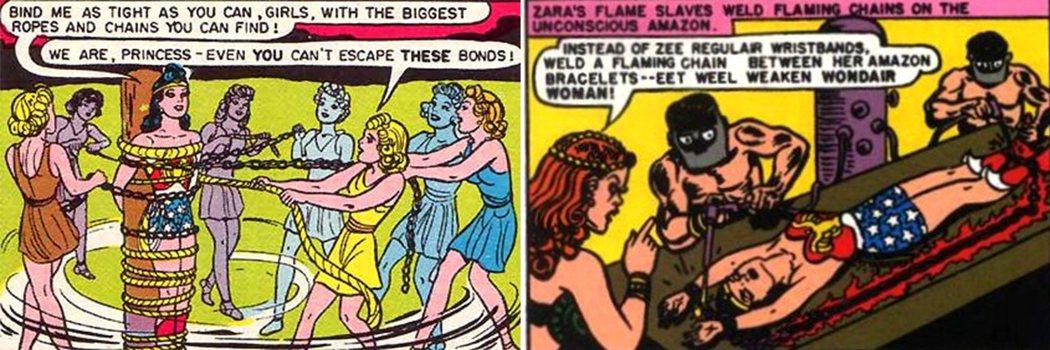 《神力女超人》中的綑綁情節。圖/取自rotten