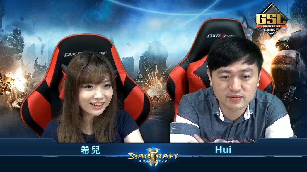 台灣賽事播報由鬼腳不敗宗師「Hui」搭配松鼠「希兒」負責擔任主播及賽事講評。