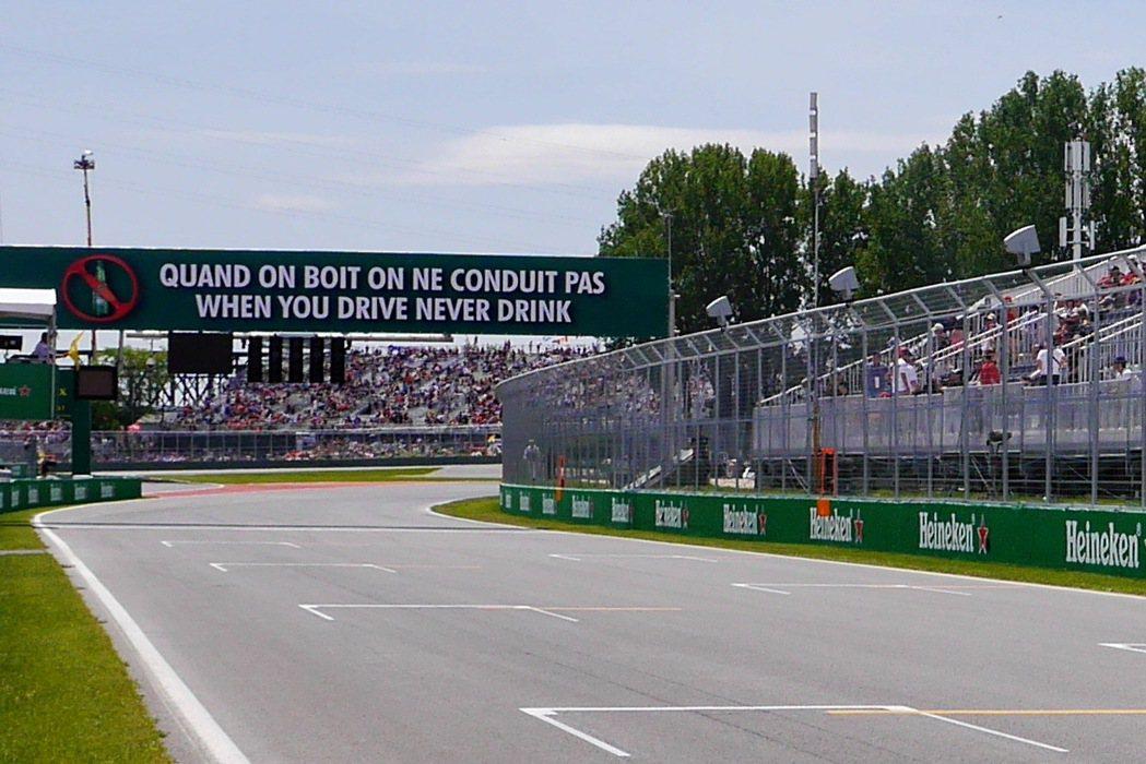 加拿大蒙特婁的Circuit Gilles Villeneuve賽道。記者陳威任...