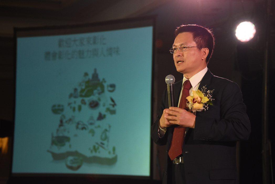彰化縣長魏明谷赴北美彰化同鄉會年會談綠能。圖/彰化縣政府提供
