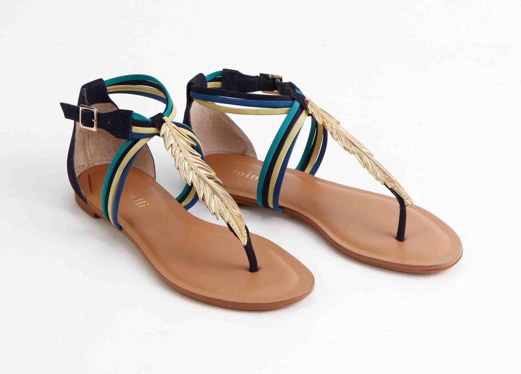 minelli時尚感涼鞋,原價4,580元,特價3,200元,限量10雙。圖/S...