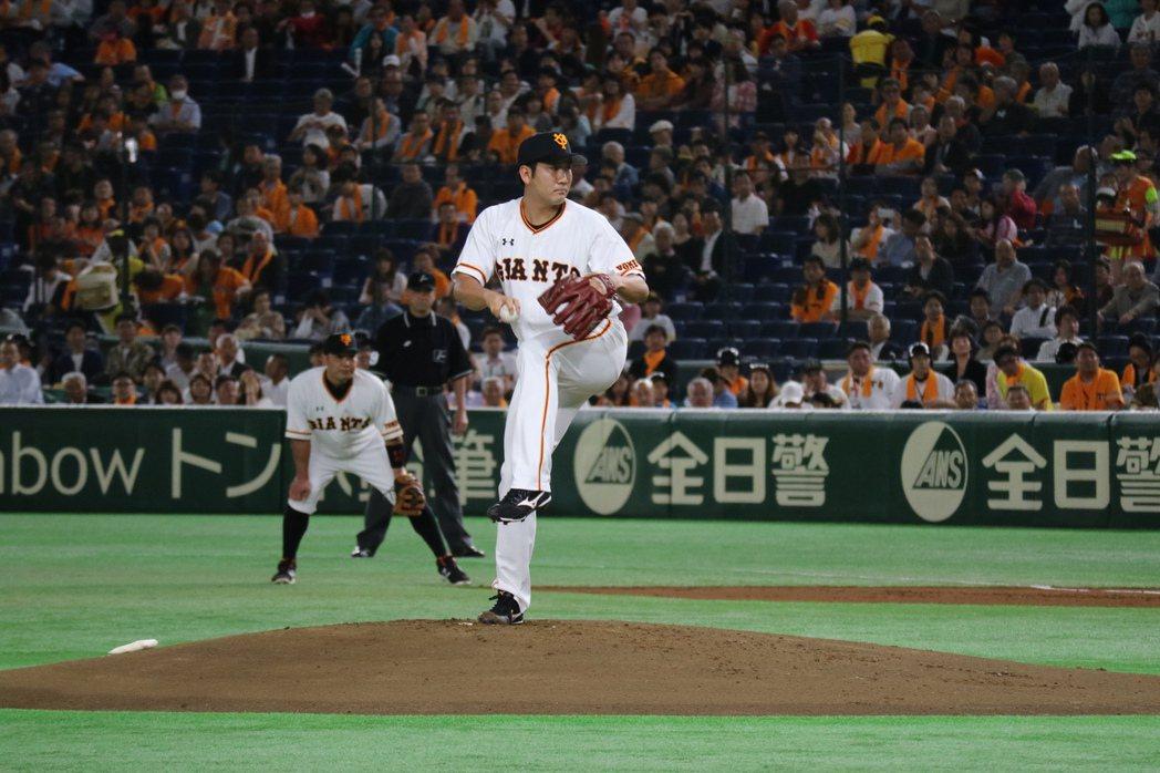巨人隊王排投手菅野智之獲日本職棒明星賽球迷票選最佳先發投手。東京記者蔡佩芳╱攝影