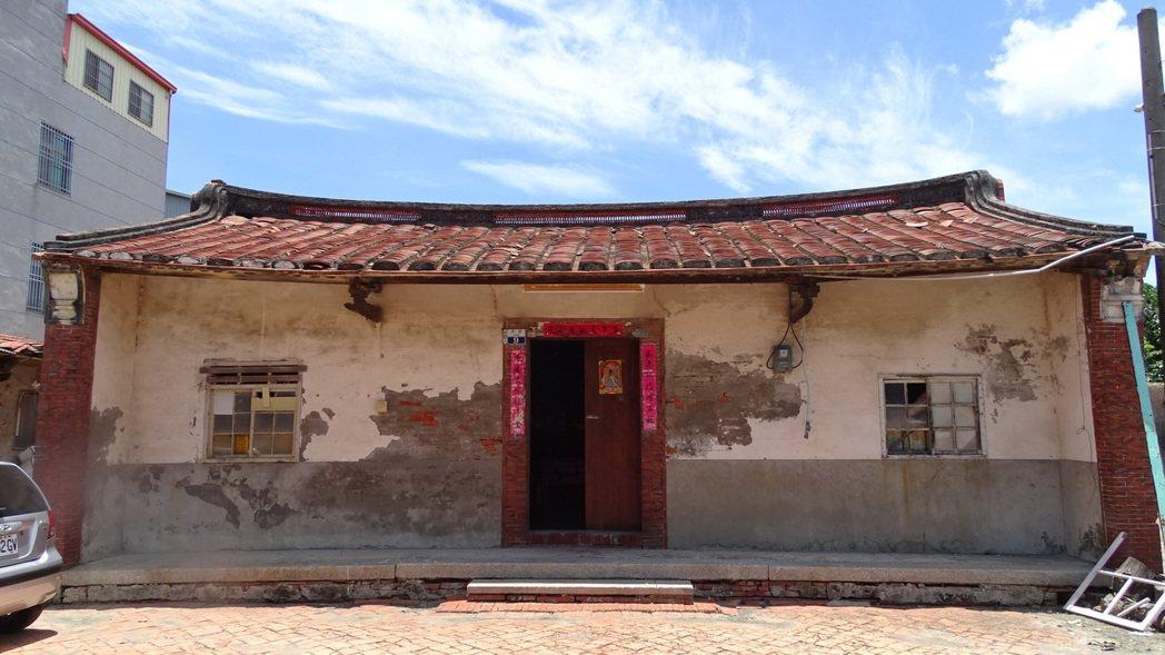 台南麻豆郭家古厝建物外觀結構完整保存。記者謝進盛/攝影