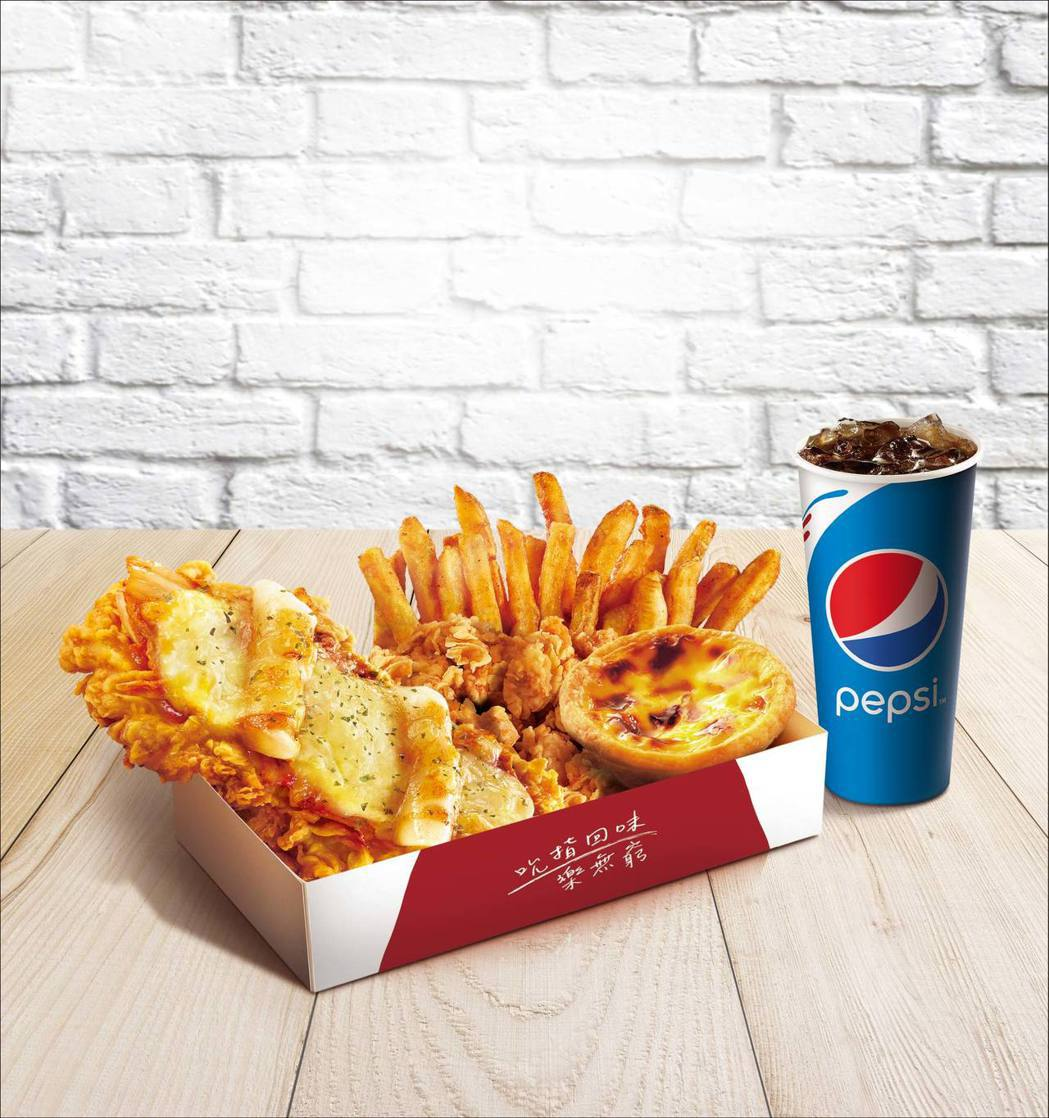 肯德基限時推出「KFC_CHIZZA韓式Q辣披薩雞腿排」,集合時下最夯的辛辣韓式...