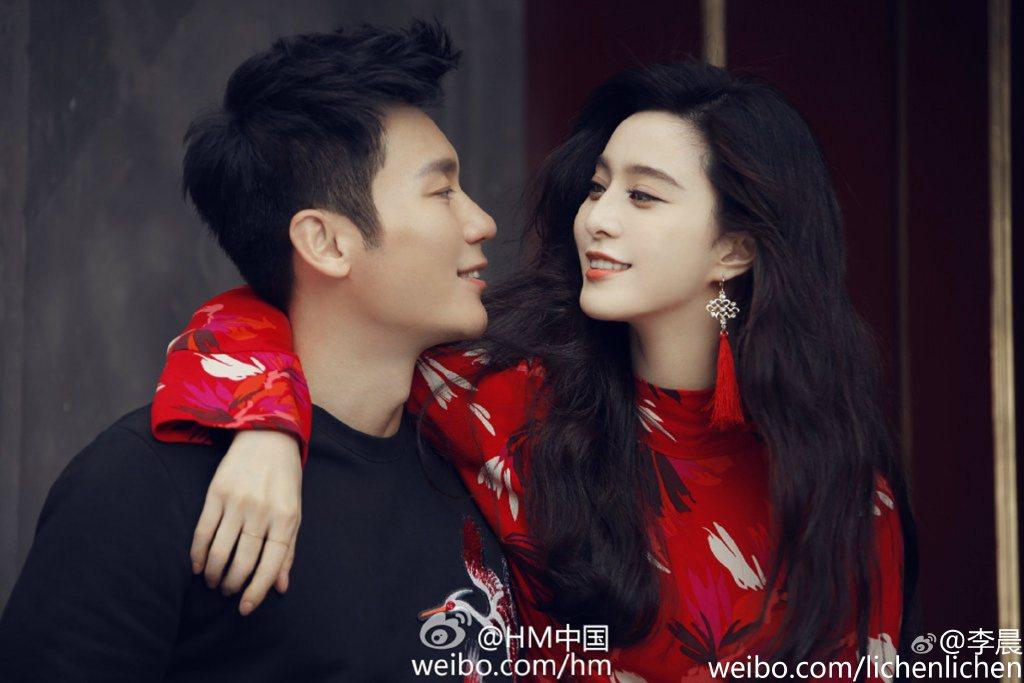 李晨、范冰冰這對情侶常被說有夫妻臉。 圖/擷自微博。