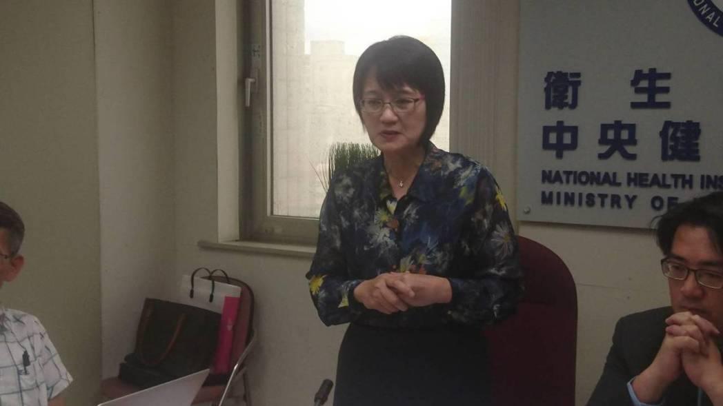 健保署副署長蔡淑鈴宣布7月起擴大辦理急性後期整合照護計畫。劉嘉韻/攝影