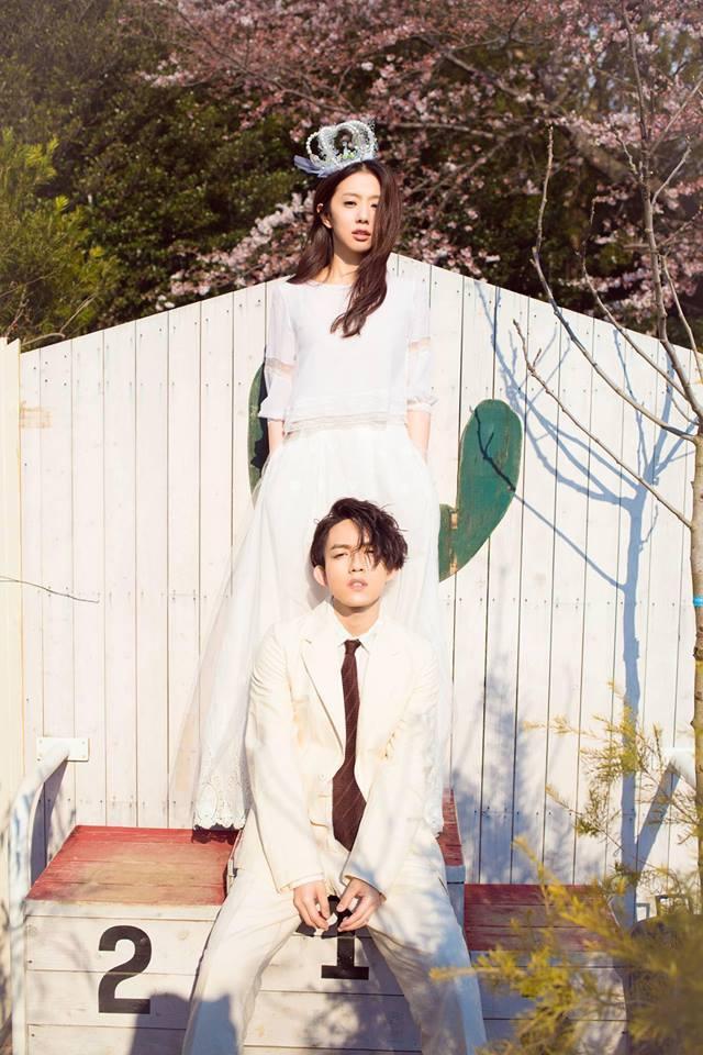丁文琪在日本婚禮穿的這套MS.IDEAS兩截式婚紗,不僅實穿也充滿態度。圖/摘自...