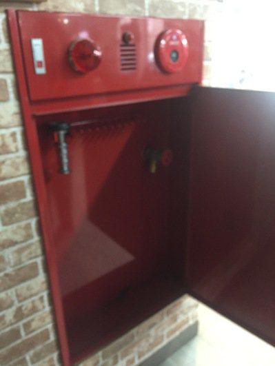 苗栗百茶文化園區內的消保栓內竟「空無一物」 未增設消防設備。圖/行政院消保處提供