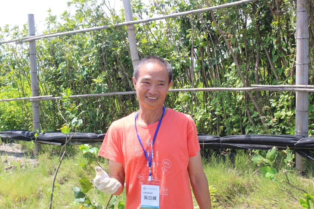 雲林縣台西鄉民吳日輝被慈心基金會的種樹理念感動,3年來擔任台西海園的園丁,協助管...