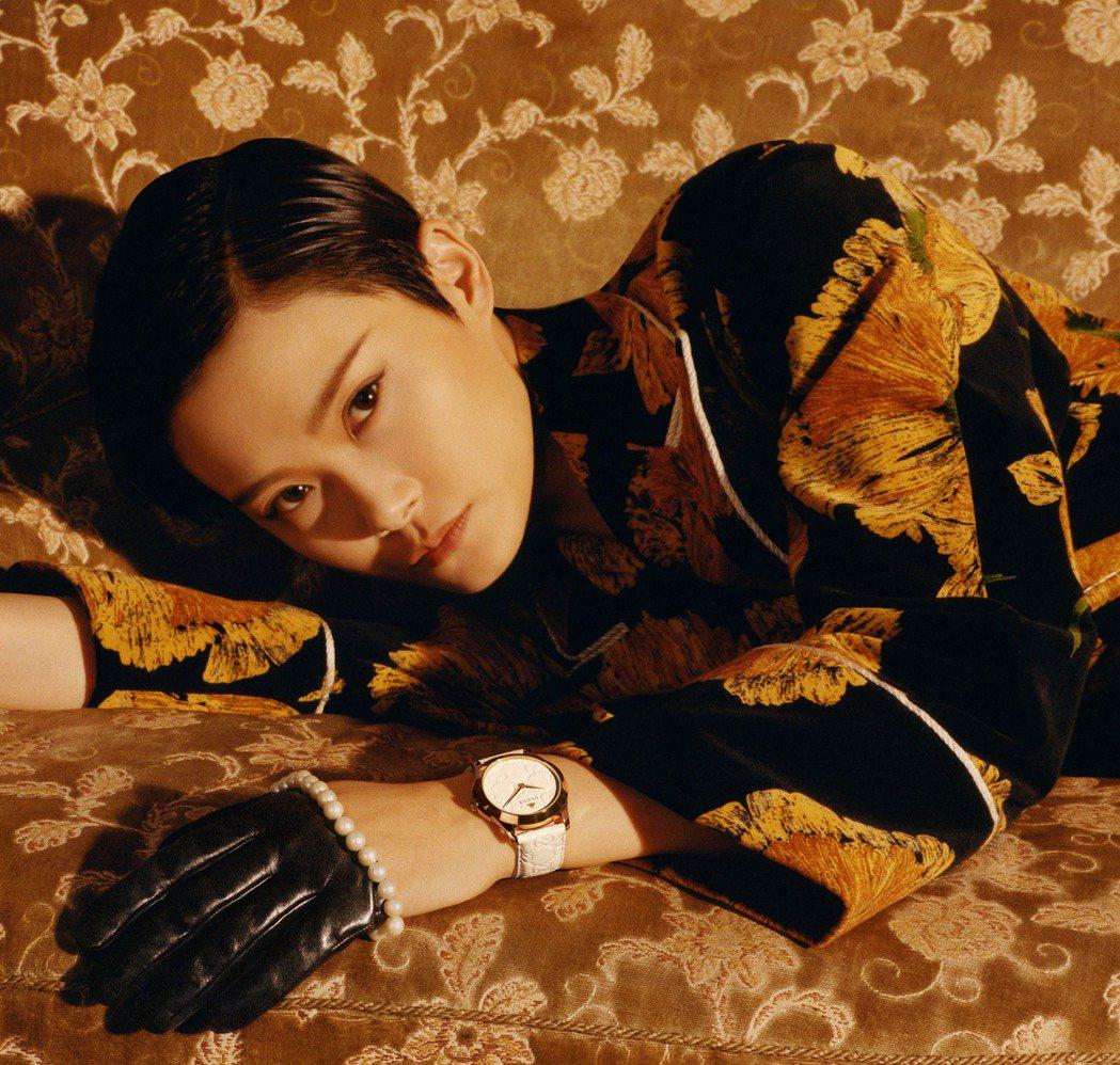 中國歌手李宇春為GUCCI的品牌大使,詮釋最新一季的鐘表與珠寶形象廣告。圖/GU...