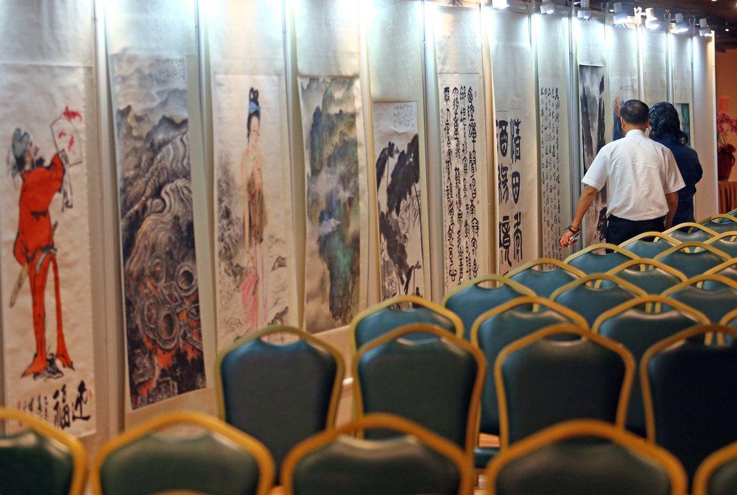 超過250餘幅兩岸書畫名家作品的「2017兩岸書畫名家交流特展」,將在張榮發基金...