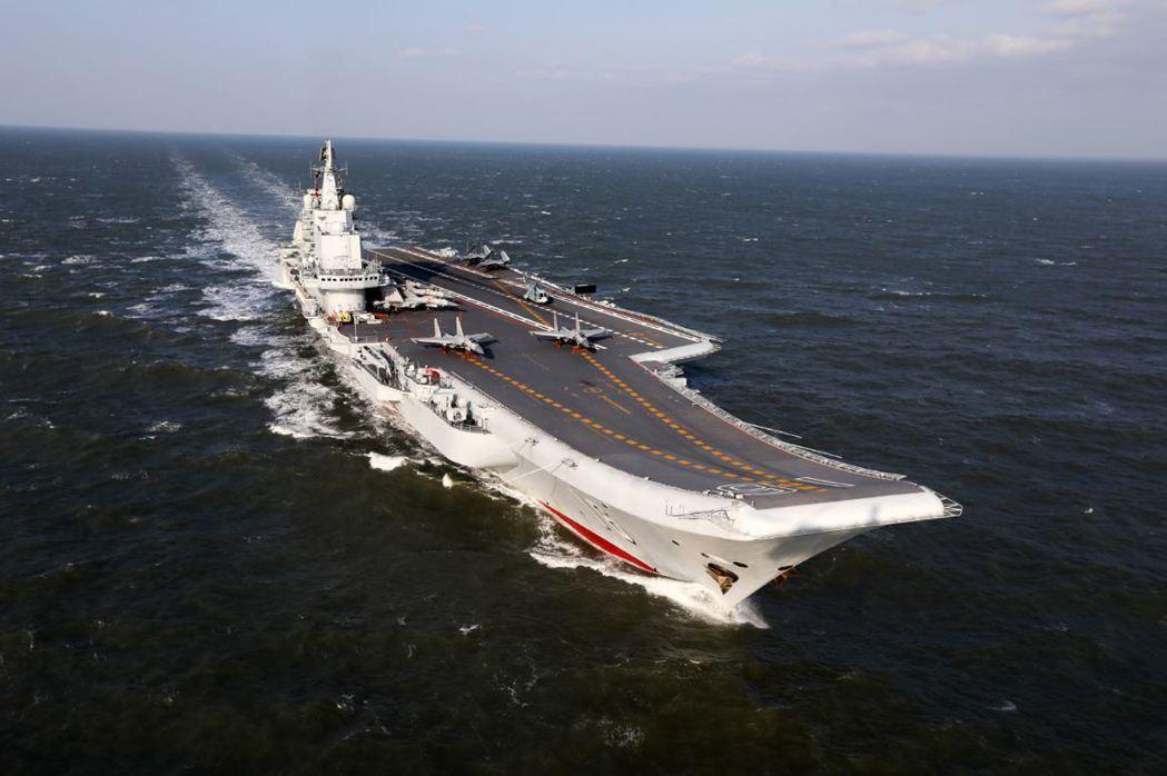 中國海軍航母遼寧艦。中新社資料照