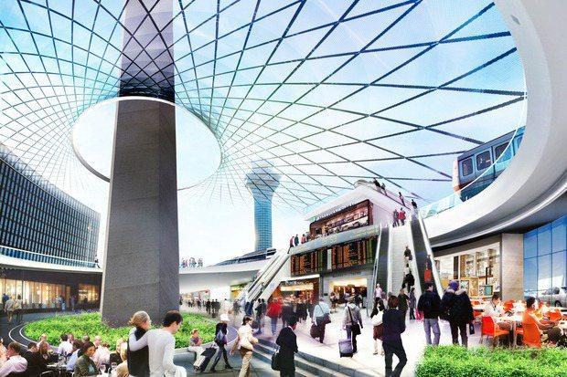 芝加哥市府計畫興建歐海爾機場到市區的快速捷運,以藉此吸引更多商機。 (芝加哥市府...