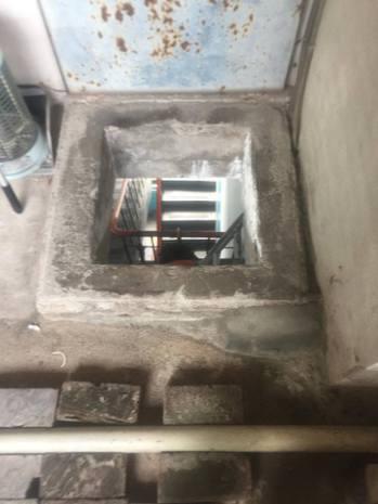 顧客住頂樓,讓原po得爬梯送餐當個「忍者龜」。圖擷自臉書
