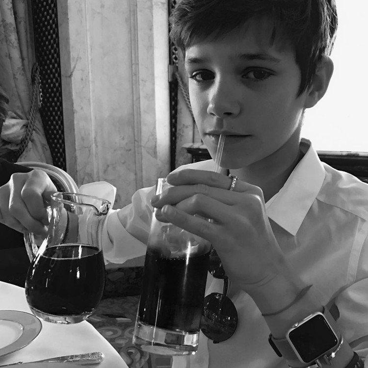 羅密歐貝克漢。圖/擷自instagram