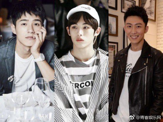 新版「美作」傳是劉昊然(左起)、董思成、黃景瑜等三人供選角。 圖/擷自微博。