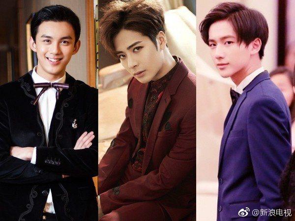 新版「西門」傳有吳磊(左起)、王嘉爾、李宏毅等三人供選角。 圖/擷自微博。