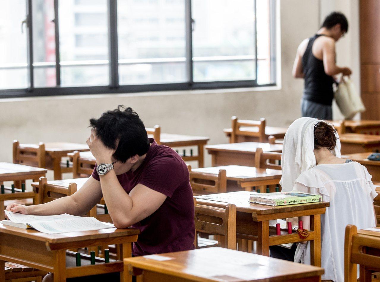 大學指考。本報資料照/記者黃士航攝影