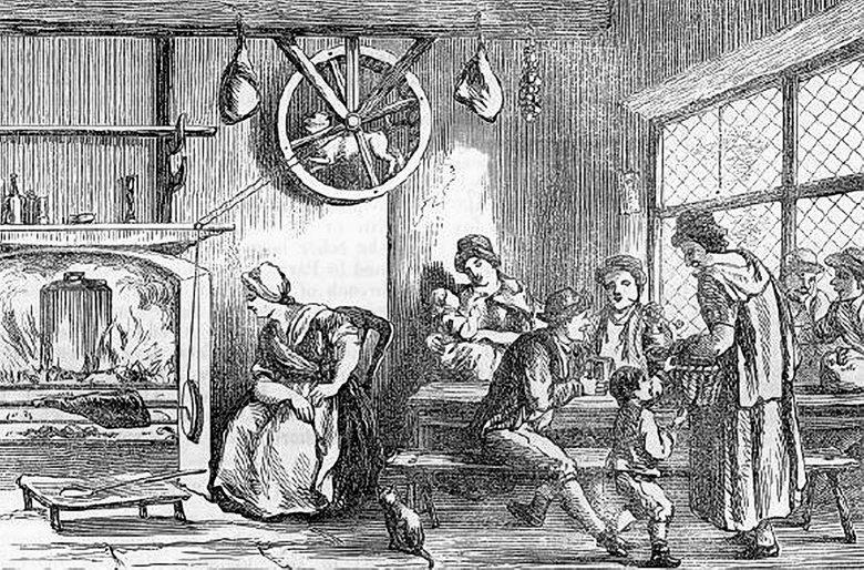 18世紀時出現過一種「轉叉狗」,讓狗在廚房一個輪狀圓盤中不斷地跑,以便讓肉叉轉動...