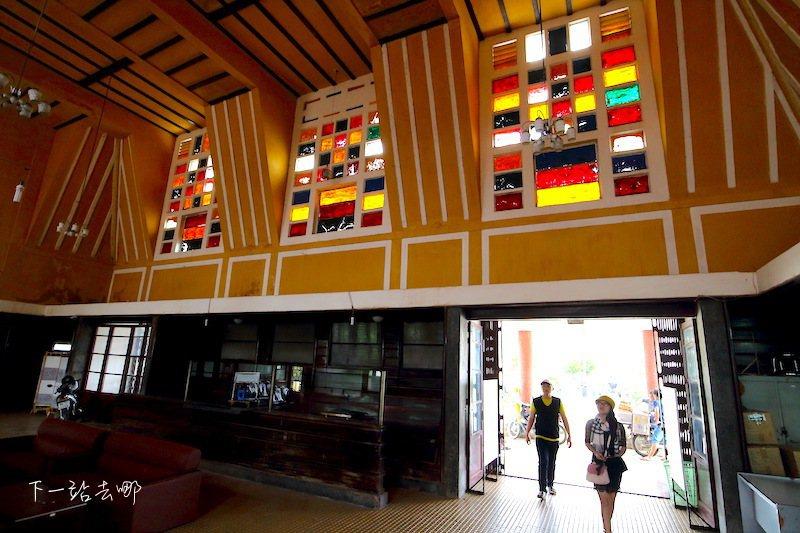 裝飾藝術風格的大叻火車站。 攝影/賴勳毅