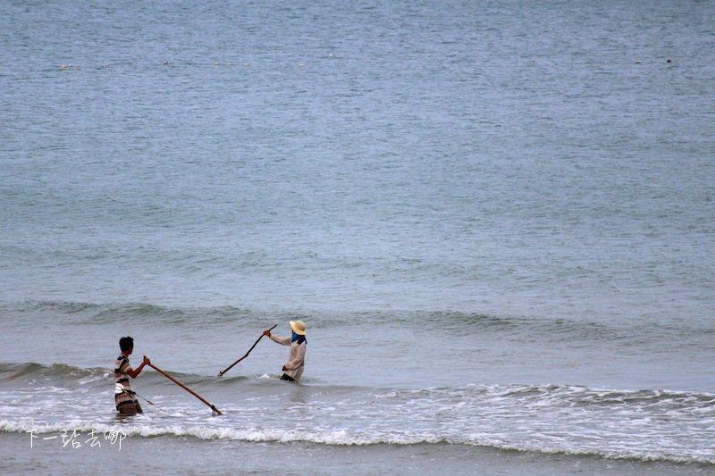 當地特殊的捕魚方式。 攝影/賴勳毅