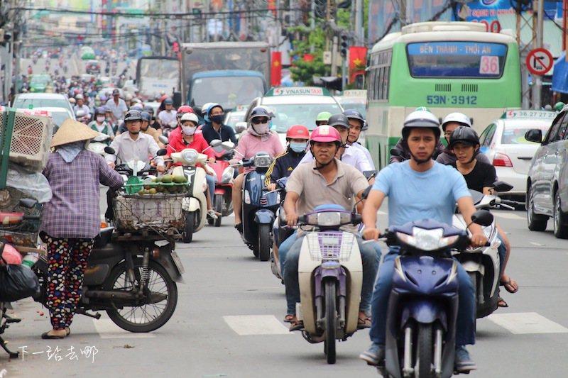 胡志明市街景。 攝影/賴勳毅