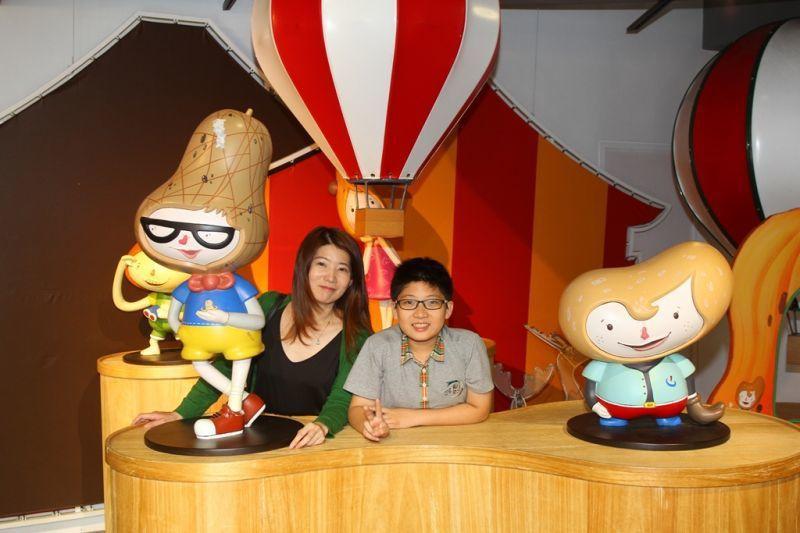 童趣夢幻的熱氣球公仔戲遊區,大人小孩都喜歡!(攝影/盧育君)