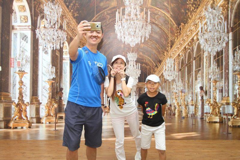 館內設有3D趣味拍照區,來張活潑的全家福吧!(攝影/盧育君)
