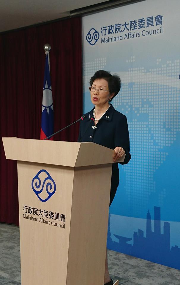圖為陸委會主委張小月。記者李仲維/攝影