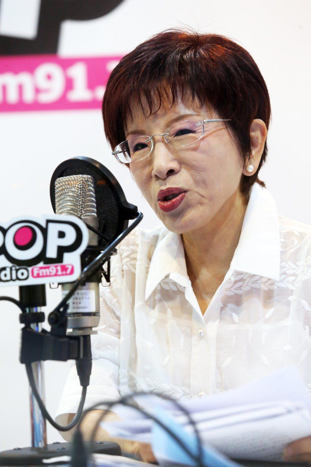 洪秀柱說明她對這次在國民黨主席選舉中失敗的看法。記者徐兆玄/攝影