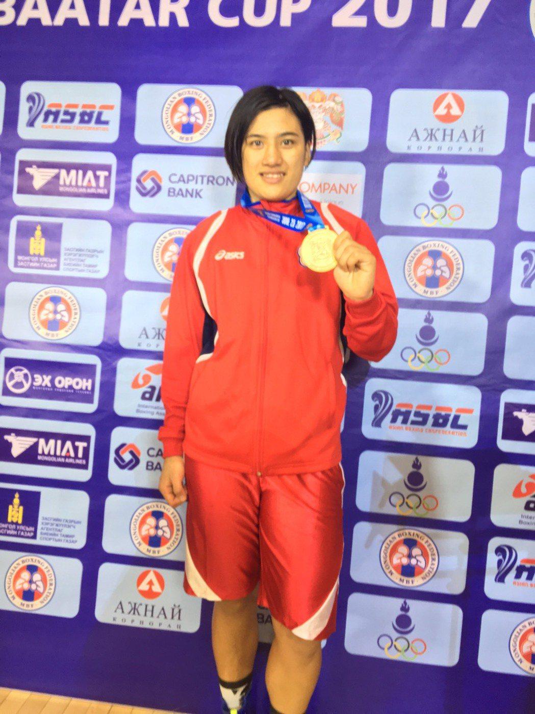 陳念琴參加蒙古烏蘭巴托盃國際拳擊賽,奪下金牌。圖/新竹市政府提供