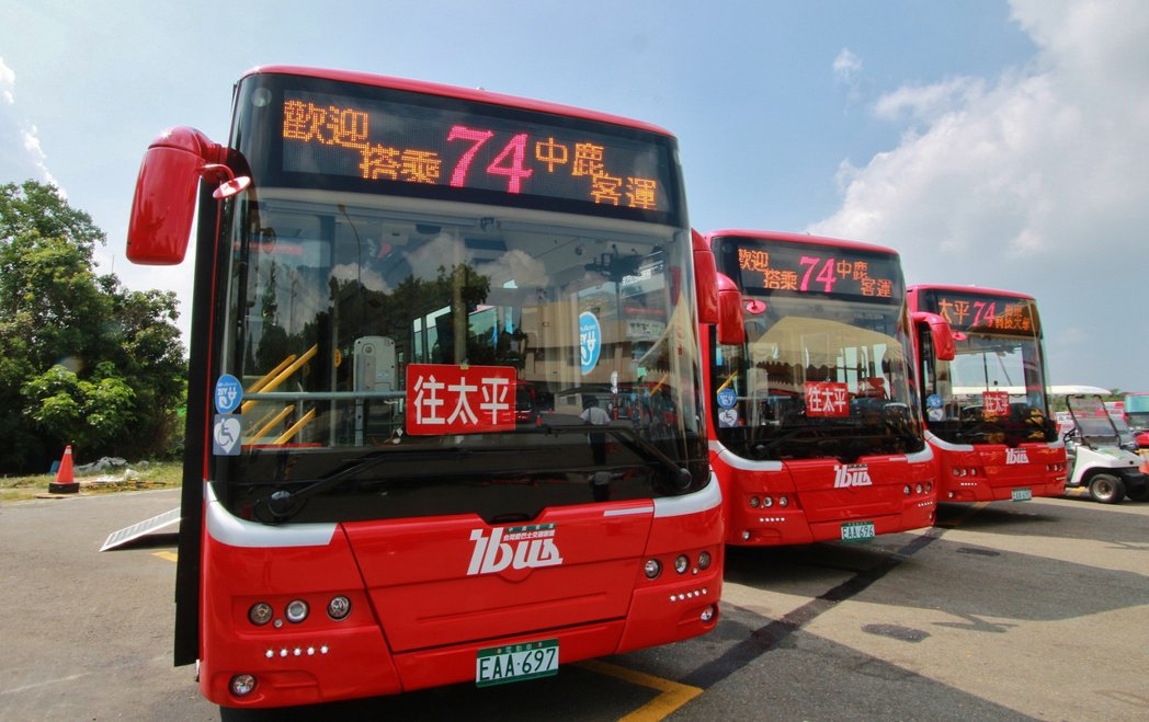 74路公車都是電動車,快捷又不汙染。照片/台中市交通局提供