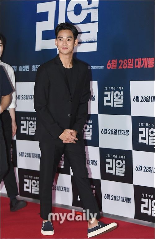 金秀賢昨出席電影「Real」試映會,這也是他暌違4年重返大螢幕之作。圖/摘自my...