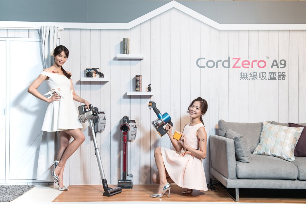 LG CordZero A9採用獨特伸縮吸塵管,可依據使用者身高與使用環境自由調...