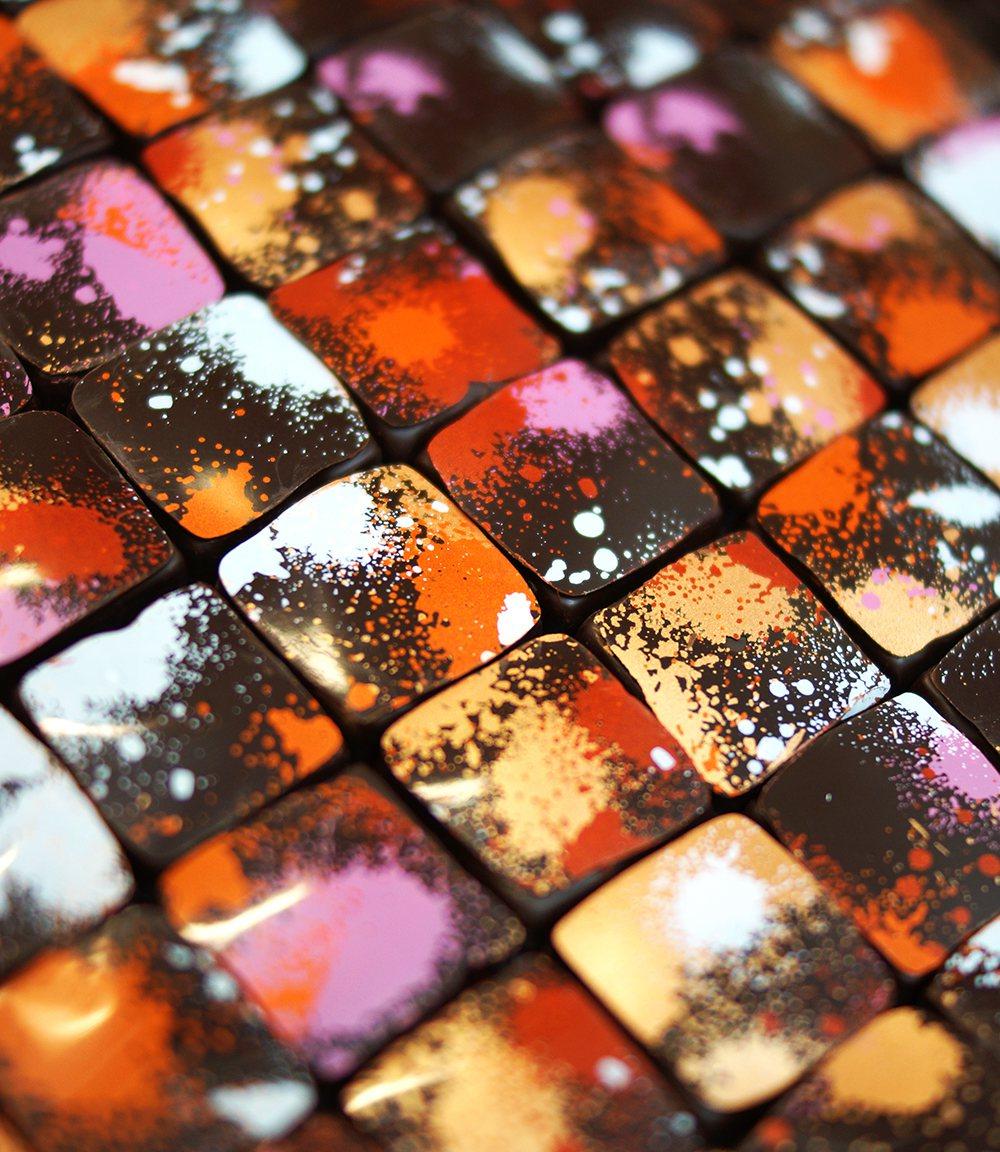 「一翦梅」夾心巧克力。圖/畬室Yu Chocolatier提供
