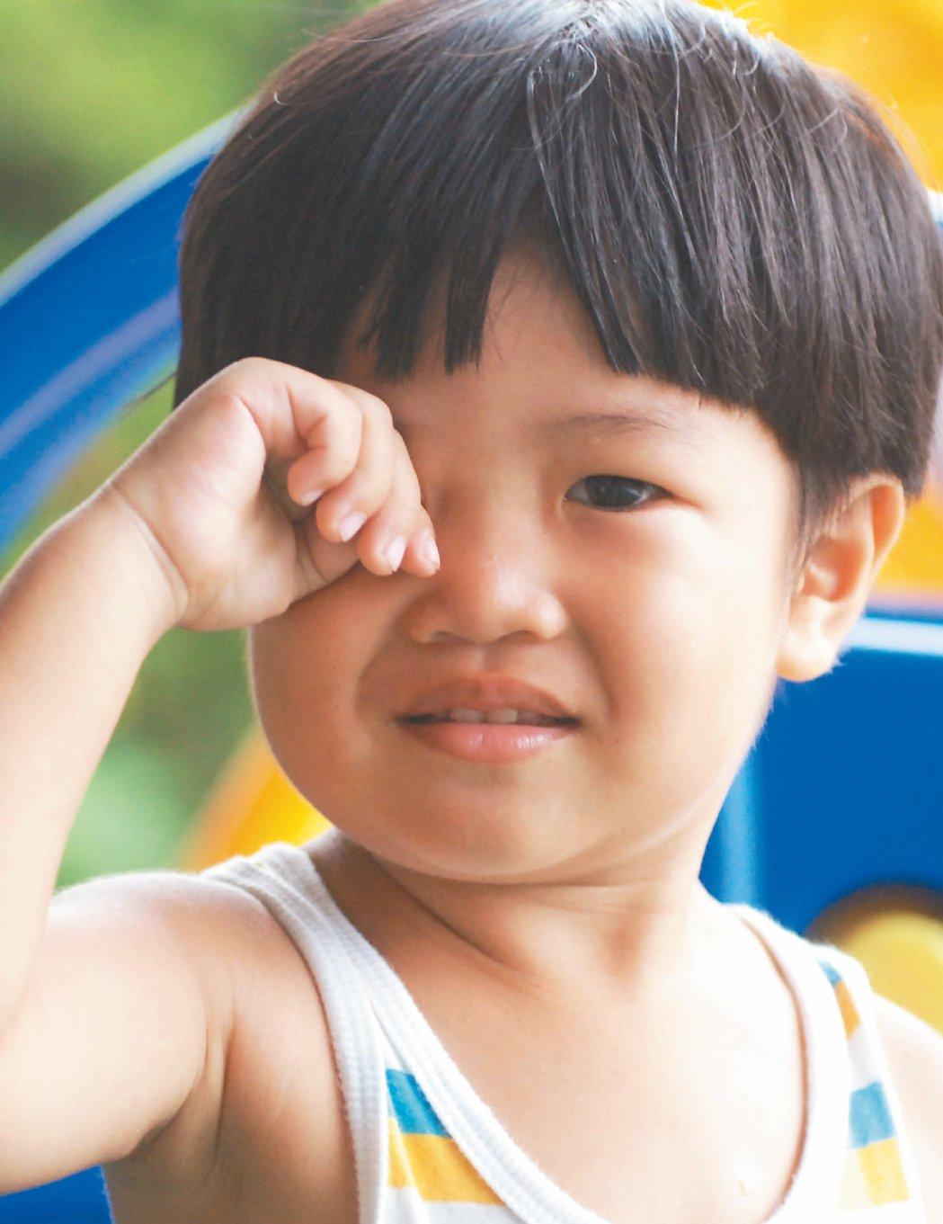 ▲預防紅眼症,呼籲民眾勤洗手,尤其小朋友不要揉眼睛,以免感染病毒。 圖/本報資料...