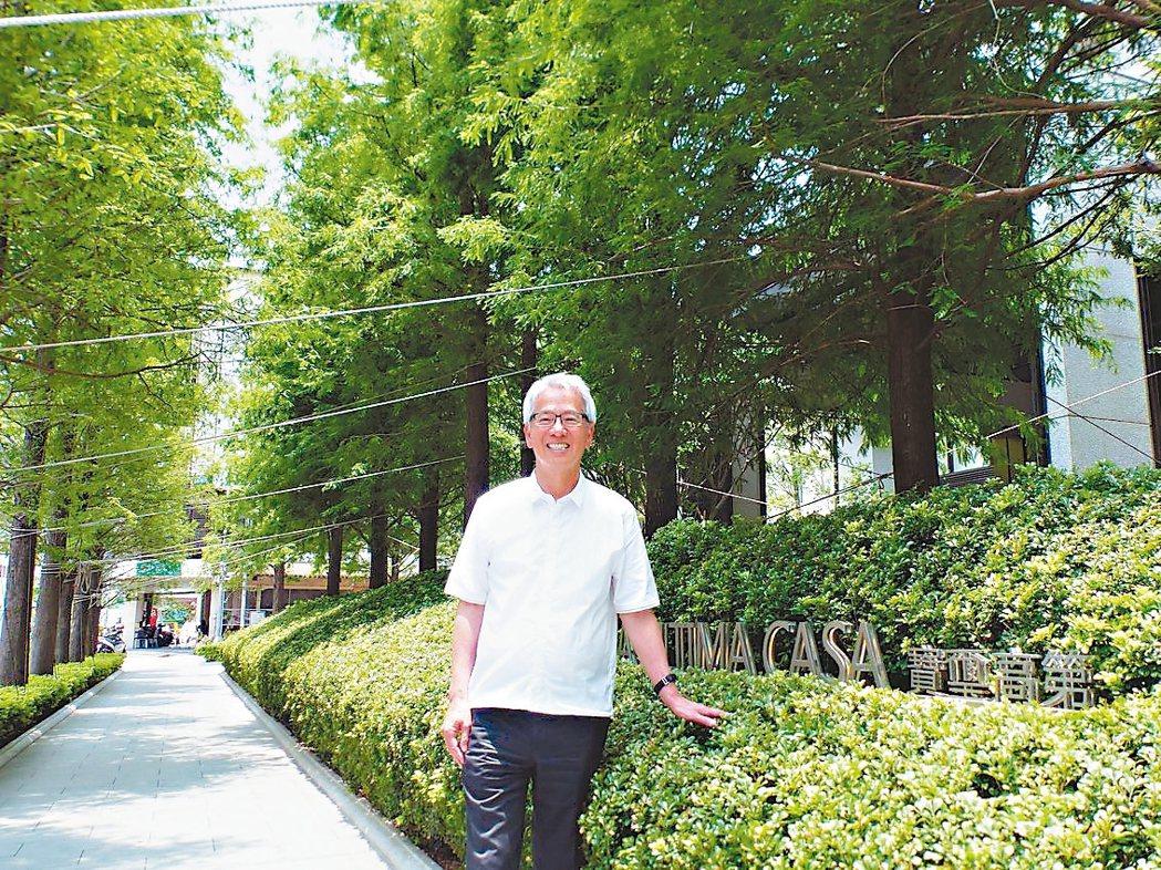 「寶璽高第」大樓社區退縮20米,遍植綠樹,營造綠蔭大道,拿下今年台中市都市空間設...