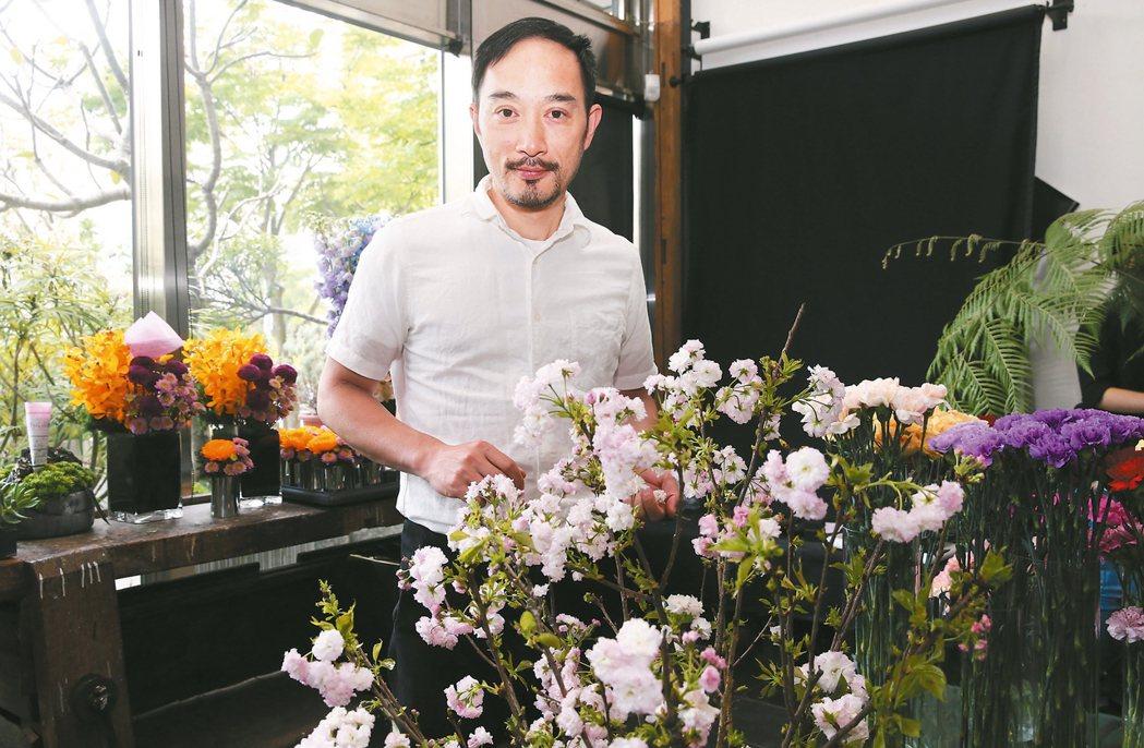 凌宗湧藉CN flower傳達他對美學的觀點。 記者徐兆玄/攝影