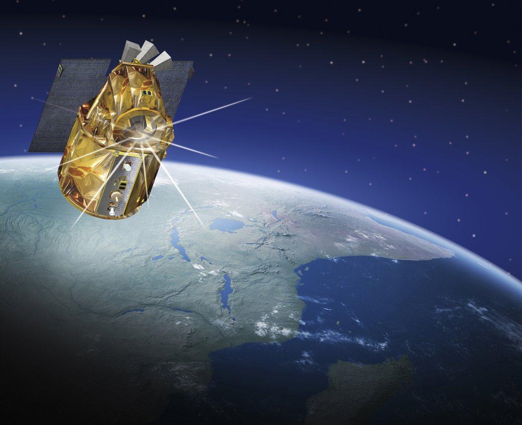 福衛五號飛行模擬圖。 圖/太空中心提供