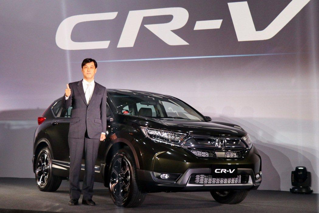 Honda在台灣市場發表第五代 CR-V,銷售即開出紅盤。 記者陳威任/攝影