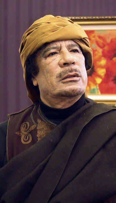 利比亞已故獨裁者格達費。 圖/取自網路