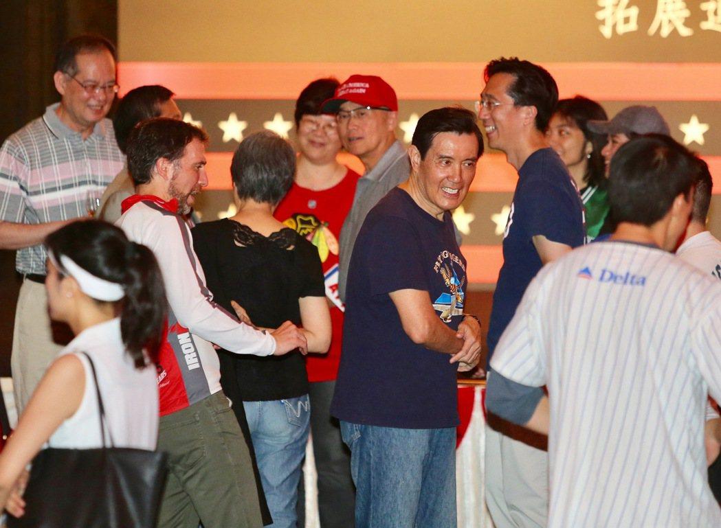 「AIT美國獨立紀念日酒會」,前總統馬英九出席。記者陳柏亨/攝影