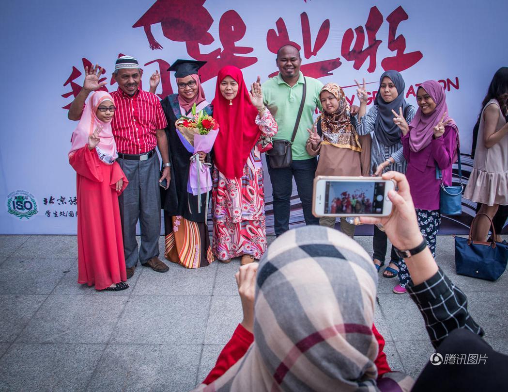 來自穆斯林國家的留學生。圖/騰訊圖片