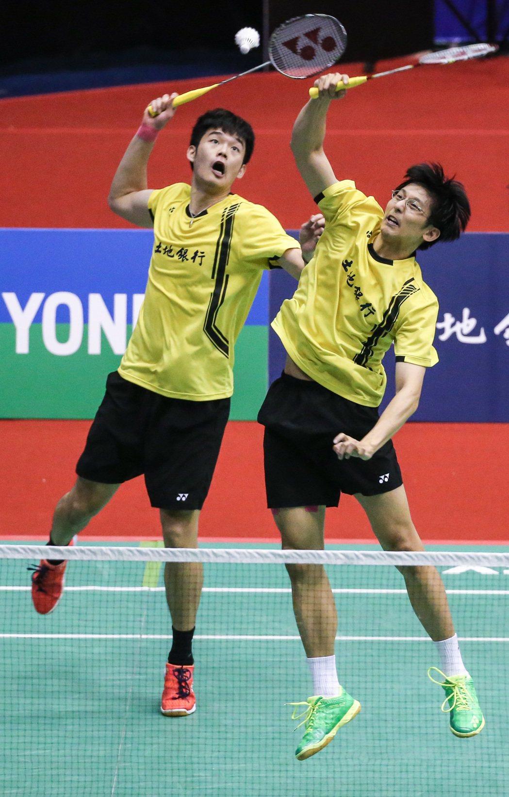 陳宏麟(右)、王齊麟(左)順利闖進八強。記者鄭清元/攝影