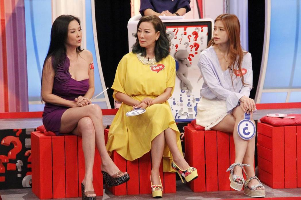 丁國琳(左起)、楊繡惠和蘿莉塔都還沒遇見對的人。圖/中天提供