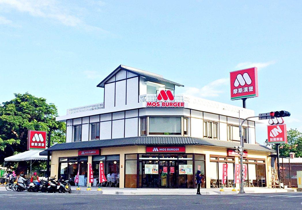 台東首家摩斯漢堡結合鐵花村鐵道印象。圖/摩斯漢堡提供
