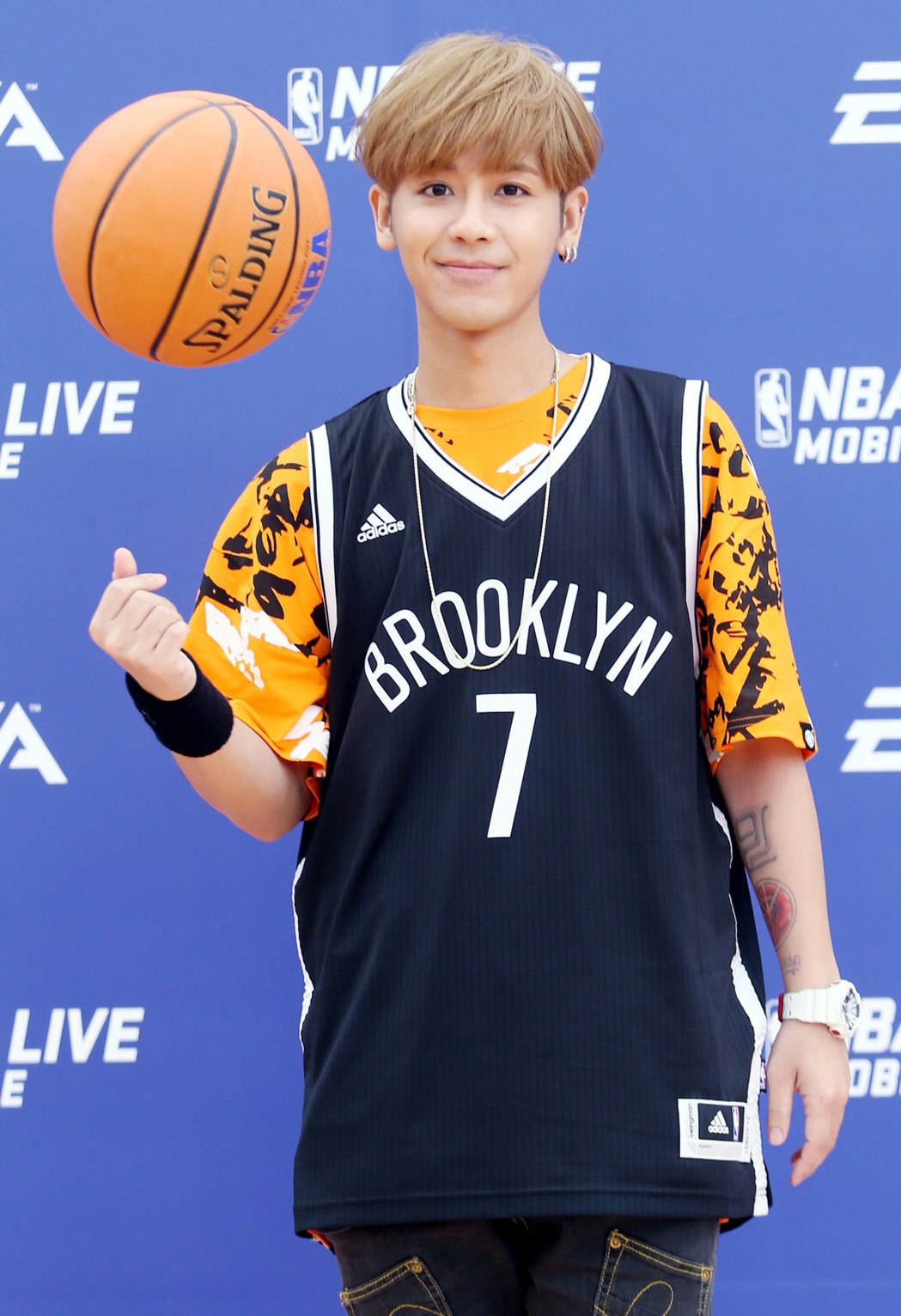 鼓鼓29日出席NBA球星活動。記者侯永全/攝影