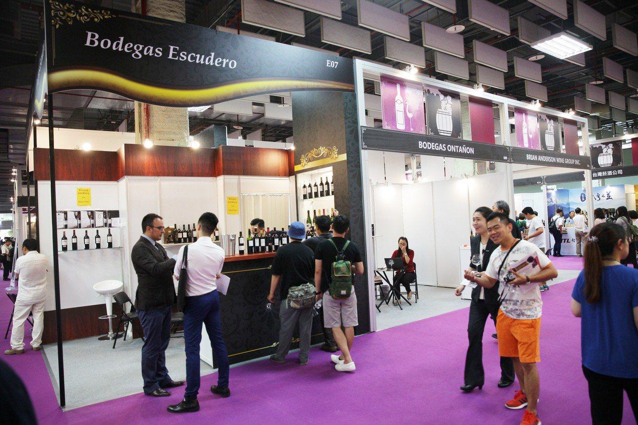 「2017 台北葡萄酒展」為歷屆舉辦7年以來首次國外酒莊參展最多的一次。圖/主辦...