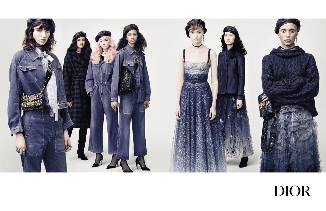 Dior 2017秋冬以藍調情懷作為設計主軸。圖/Dior提供