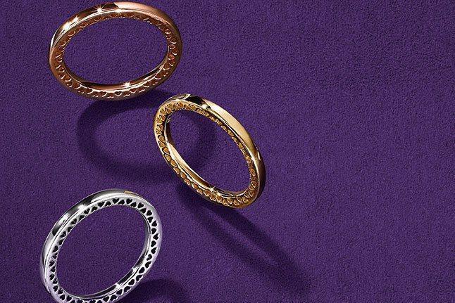 PANDORA秋季吹起粉紅色與心型珠寶風潮。圖/PANDORA提供